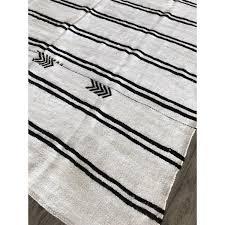 6 10 x 10 vintage white handmade hemp area rug turkish tribal