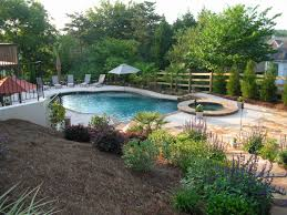 Furniture  Beautiful Design Pool Slide Company Small And Big Huge Backyard Pool
