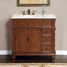 silkroad exclusive 36 single sink left side vanity with crema marfil top
