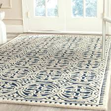 wayfair blue and white rug new square hand woven wool navy ivory area rug reviews intended wayfair blue and white rug navy area