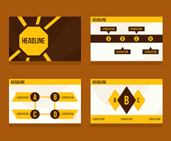 Powerpoint Backgrounds Yellow Yellow And Brown Powerpoint Template Vectors Vector Art