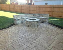 Stamped concrete patio with fire pit cost 600 Sq Ft Cost To Pour Stamped Concrete Patio What Darrelgriffininfo What Does It Cost To Pour Concrete Patio Animasjoninfo