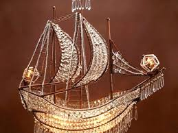 crystal ship chandelier crystal pirate