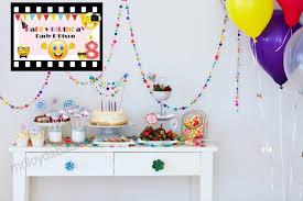 custom home décor emoji birthday poster for kids size 24x36 48x24 48x36 personalized