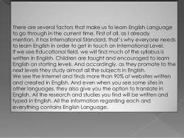 the importance of the english language 6