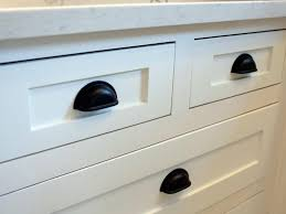black cabinet pulls on gray cabinets. black cabinet hardware makes for a striking contrast with the new white cabinetry. pulls on gray cabinets h