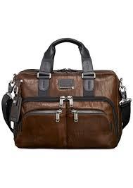 men s alpha bravo albany slim leather briefcase
