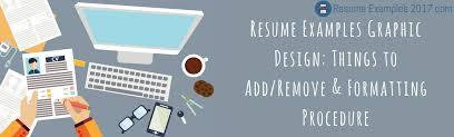 Impressive Graphic Design Resume Examples 2017 | Resume Examples 2018