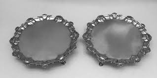 a pair of geo iii silver salvers 1768