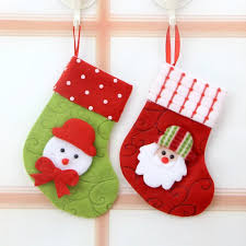 Christmas decorations Christmas gift bag Christmas tree ornaments small  Christmas stockings hosiery for Santa Claus candy