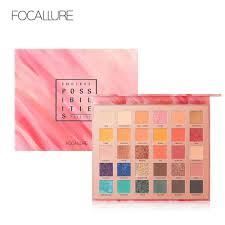 focallure 30 colors eyeshadow pallete glitter high pigment eye makeup easy to wear waterproof eye shadow