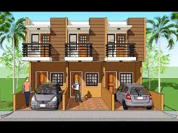 Triplex House plans and design. Model Marian