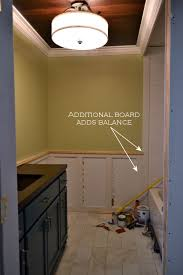 bathroom walls recessed panel wainscoting with tile accent 3