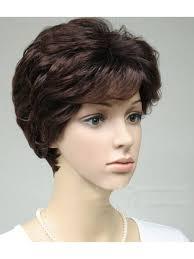 شعر صناعي قصير بوي لون بني