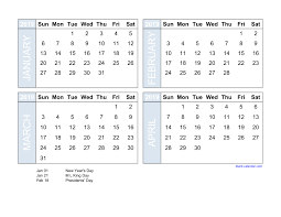 Free Excell Calendar Free Download 2019 Excel Calendar Four Month In Landscape Format
