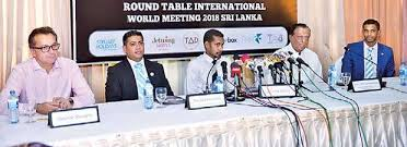 from left jetwing hotels director operations jerome auvity round table sri lank vice president shezad hameed representative of george steuart travel