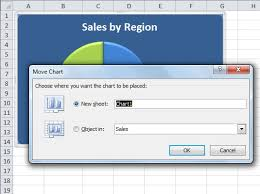 How To Move An Embedded Excel 2010 Chart To Its Own Chart