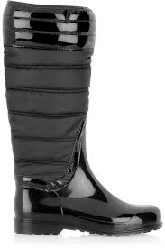 Lyst - Burberry Quilted Patent-rubber Wellington Boots in Black & Gallery Adamdwight.com