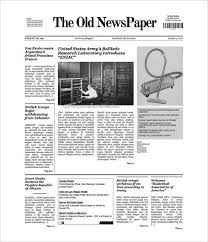 Newspaper Article Template Free Newspaper Article Template Free All Together Now Info