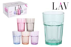 aras pastel full coloured highball cocktail drinking glasses 365ml