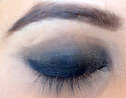 you applied your black eyeshadow easy smokey eye