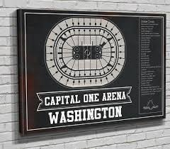 Caps Arena Seating Chart Washington Capitals Capital One Arena Seating Chart Vintage Hockey Print