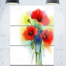 bunch of bright red poppy flowers flower large metal wall art 36wx28h on bunch of poppies metal wall art with red poppy flower with green leaves flower large metal wall art