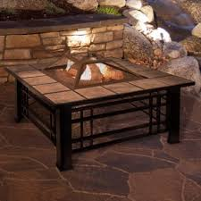 patio furniture with fire pit table. Interesting Fire Tile Steel Wood Burning Fire Pit Table Throughout Patio Furniture With U