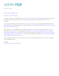 job posting cover letter