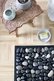 diy pebble bath mat