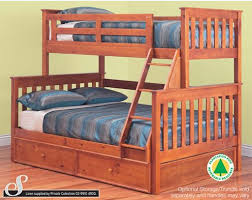 ... BEDS > Single over Double > Fort Trio Bunk TEAK. A Trundle/Storage unit  is available at extra cost (Pictured here)