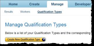 Viewing Existing Qualification Types Amazon Mechanical Turk