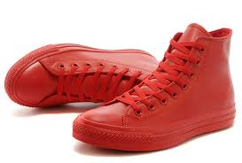 converse shoes high tops red. buy s69ni e6a39d all red star leather converse monochrome high tops chuck taylor shoes