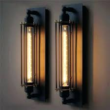 long wall sconces industrial rustic long wall sconce plate lamp black retro vintage lighting large wall