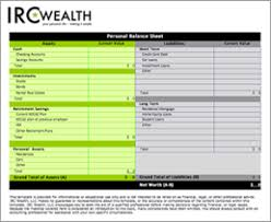 Financial Planning Sheet Excel Worksheets Irc Wealth