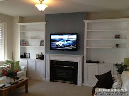 hiding wires for mounted tv fireplace