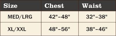 Ghillie Suit Size Chart 5 Piece Adult Ghillie Suit
