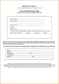 recurring payment authorization form credit card ach pdf nice ach form template