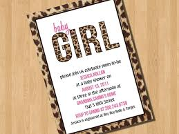 Cheetah Print Baby Shower Invitations Together With A Picturesque