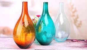 bubble glass vase large