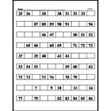Hundred Chart Worksheet Free Hundreds Chart Pdf Math Worksheets Edhelper Com