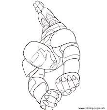 Here in this cool illustration showing him flying in the sky, you can see one of his gauntlets is opening up to the fire while the other hand is clenched in an iron fist. Flying Iron Man S For Kidsaee9 Coloring Pages Printable
