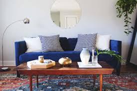 Blue Velvet Sofa Living Room Widio Design Innovative Warm Ideas