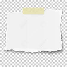 White Paper Vector Ragged Piece Of White Paper On Sticky Adhesive Tape Placed