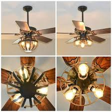 diy industrial ceiling fan with garden planter cage lights hometalk inspire small caged light as well