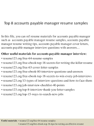 top  accounts payable manager resume samplestop  accounts payable manager resume samples in this file  you can ref resume materials