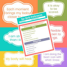 Birth Plan Beauteous Birth Plan Template And Birth Affirmations Printables Etsy