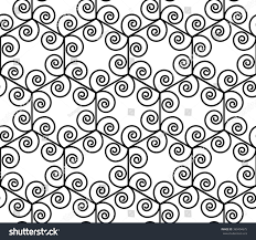 Vector modern seamless geometry pattern spiral hexagon, black and white  abstract geometric background, pillow