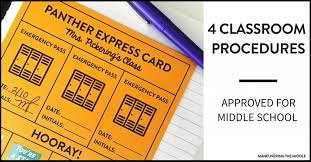 4 Classroom Procedures For Middle School Maneuvering The