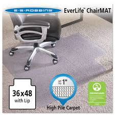 chair mat with lip. 36x48 Lip Chair Mat, Performance Series AnchorBar For Carpet Up To 1\ Mat With P